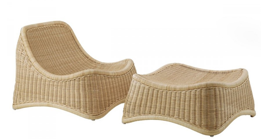 Fauteuil et repose-pied Chill