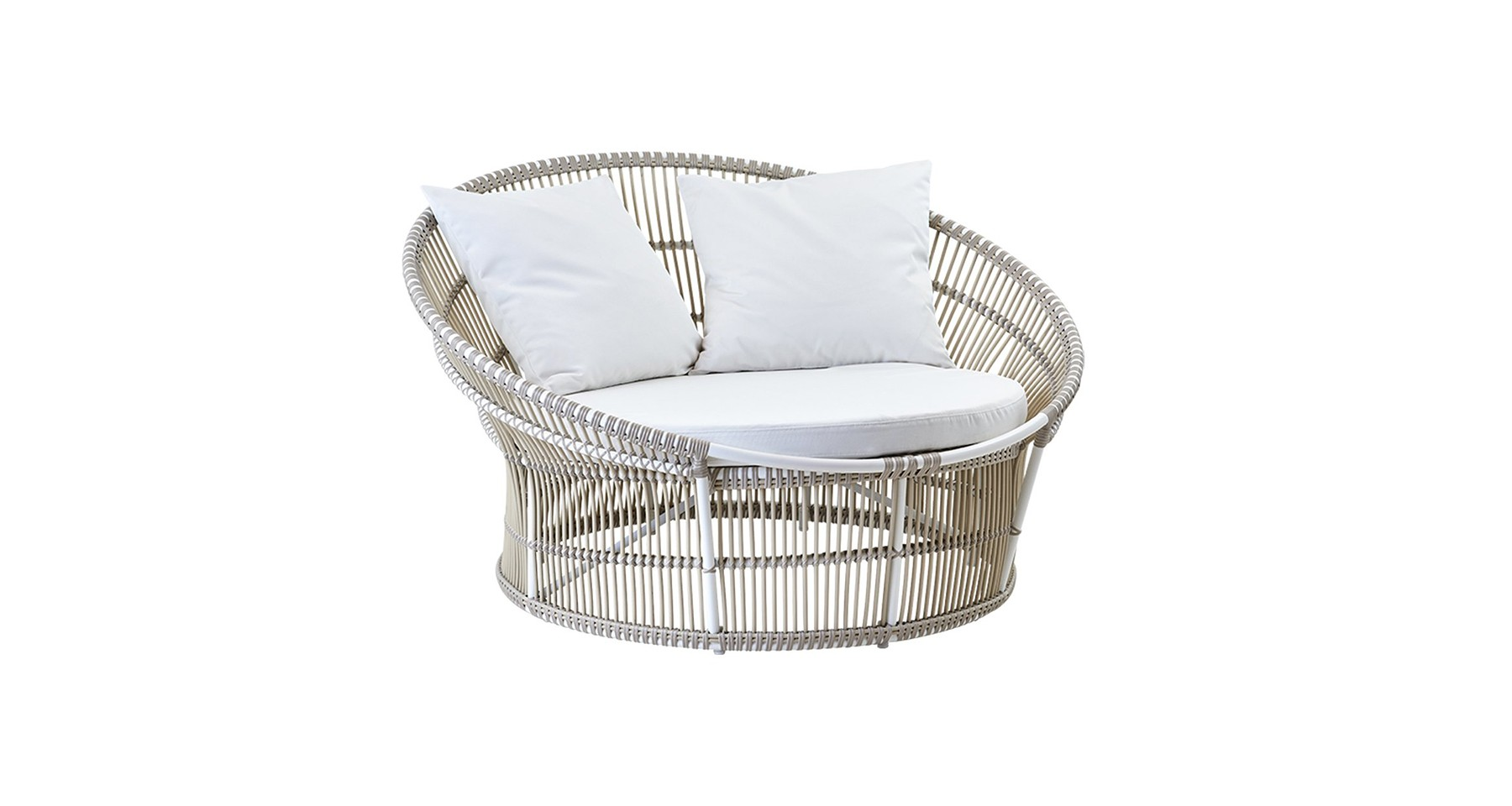 Canape Rond Outdoor Olympia Nest Blanc Ou Moccacino
