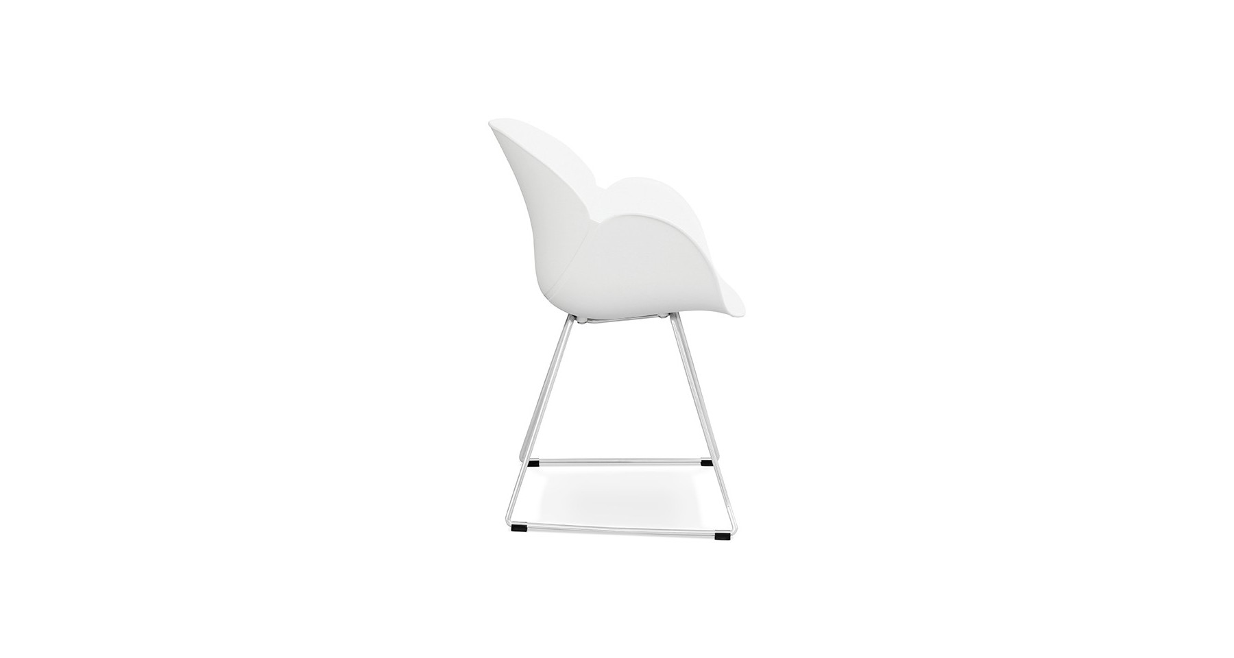 Chaise Blanche Scandinave Pied Metal Rosson