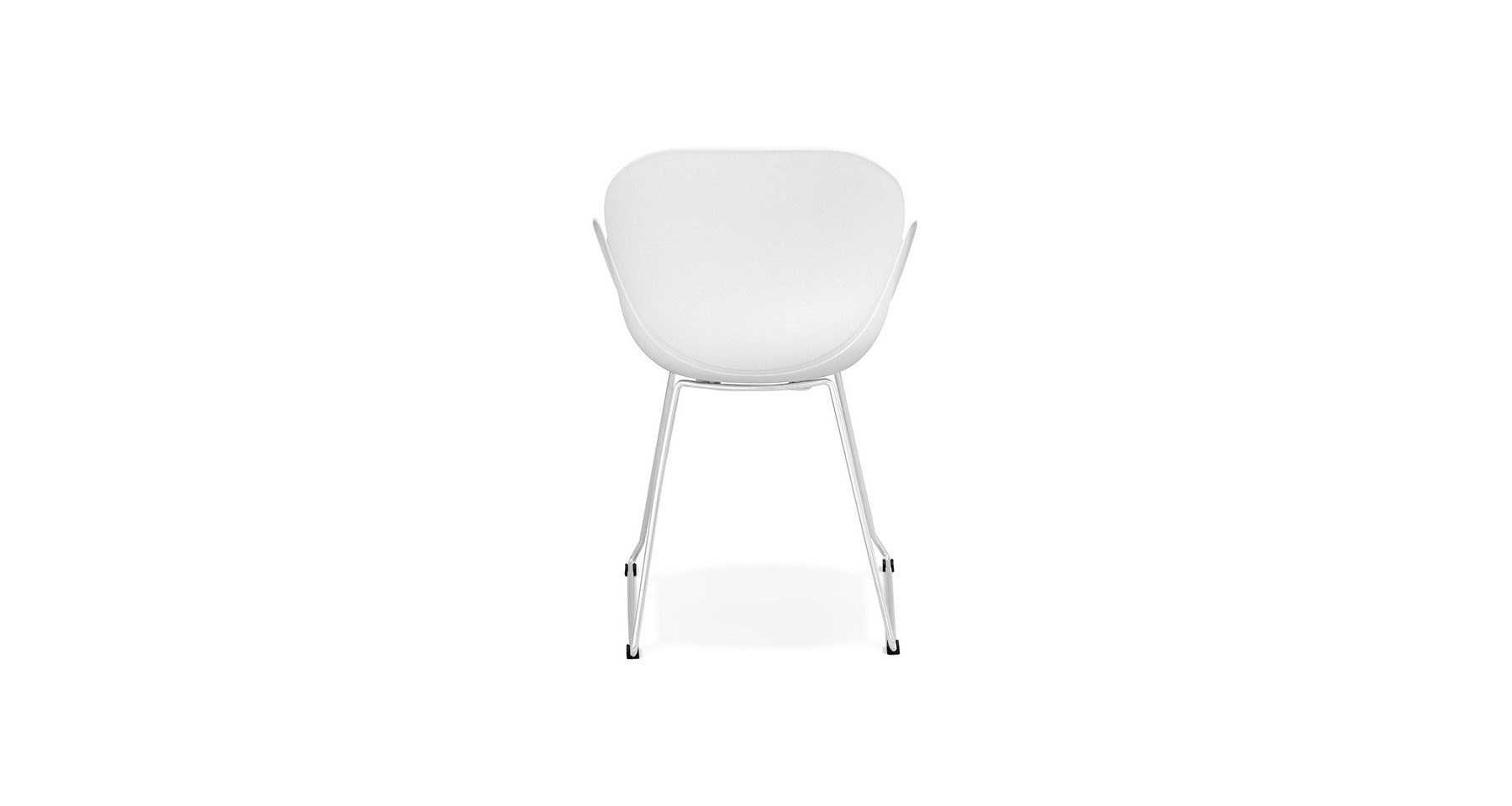 chaise blanche scandinave accoudoirs avec pieds m tal ross n