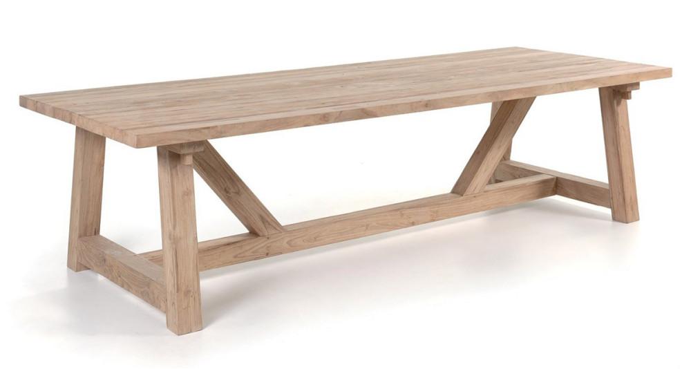 Table jardin 300 cm en teck recyclé Highland