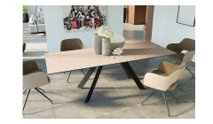 Table extensible 150/230 cm design contemporain Cinabre