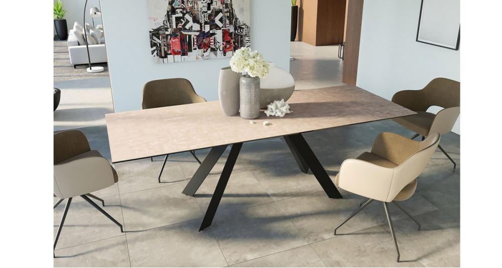 Table extensible 150/230 cm design contemporain Cinabre