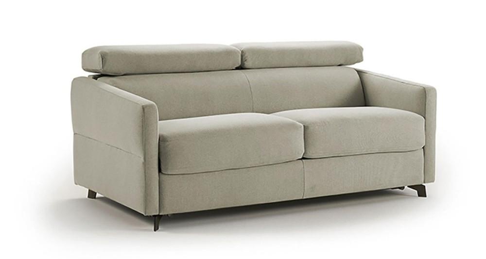 Canapé lit convertible à têtières réglables Léana