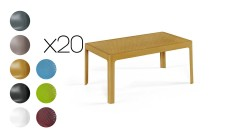 Lot 20 tables basses 90x50 cm Genoveva