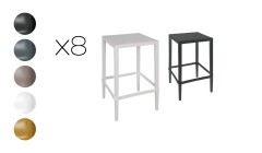 Lot 8 tables de bar hauteur 103 cm Edmundo