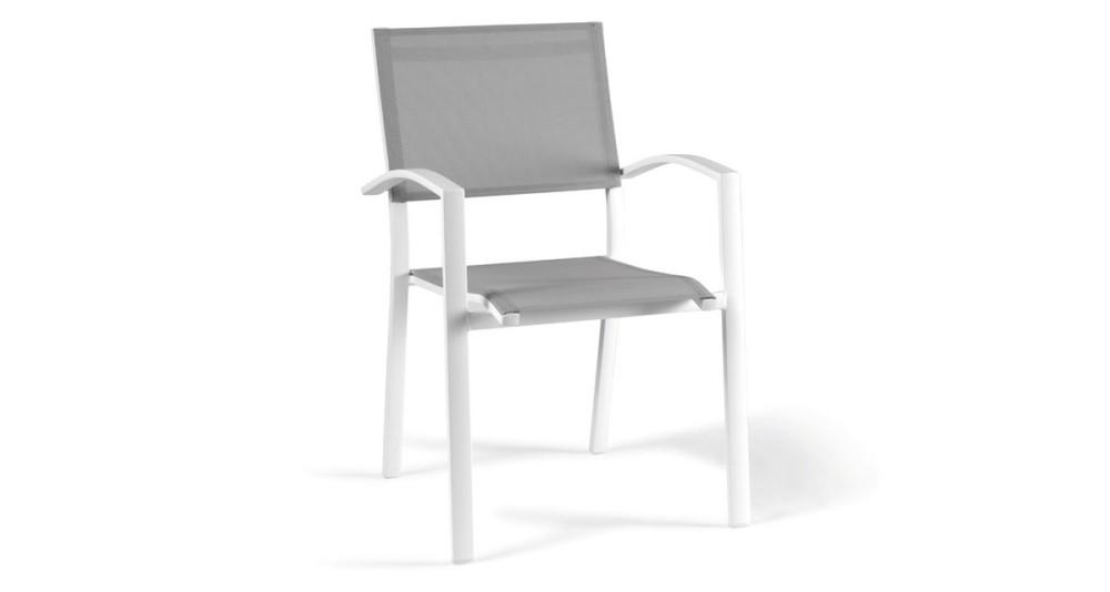 Lot 4 chaises en toile respirante Figari