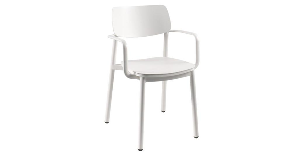 Lot 4 chaises à accoudoirs type écolier Cuba