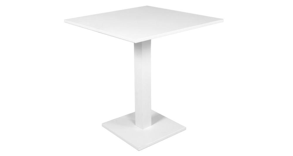 Table carrée pliante avec pied central L'Argentière