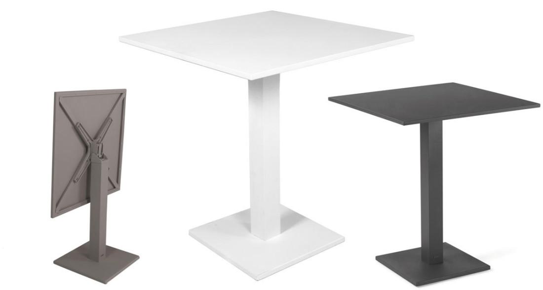 Table Rabattable Petit Espace table extérieure de bistrot plateau pliant 70 x 70 cm l