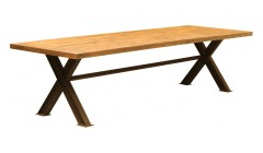 Table de repas industrielle 300 cm Greenville