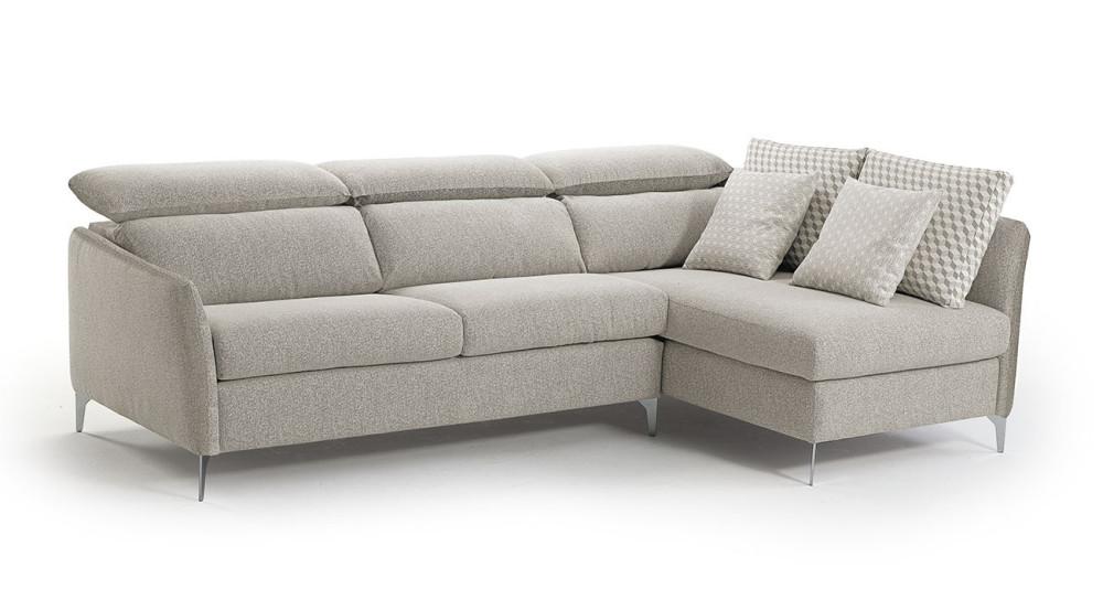 Canapé d'angle contemporain avec repose-têtes Andrea