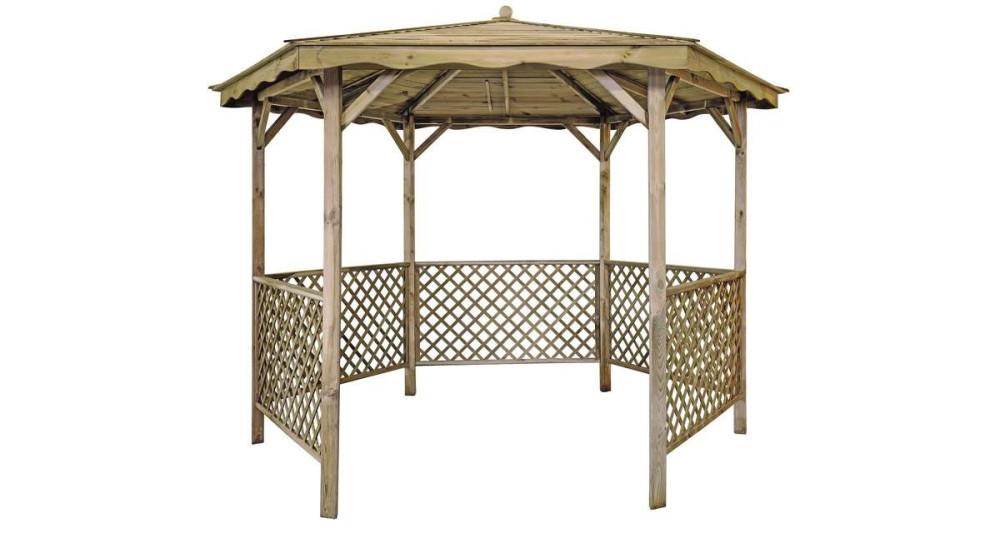 Tonnelle hexagonale en bois diamètre 320 cm Lora