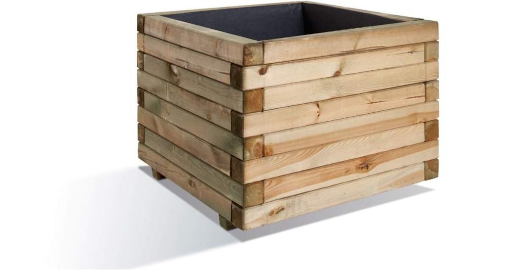 Bac à plantes carré XL 80 cm, 230 L Stockholm 80