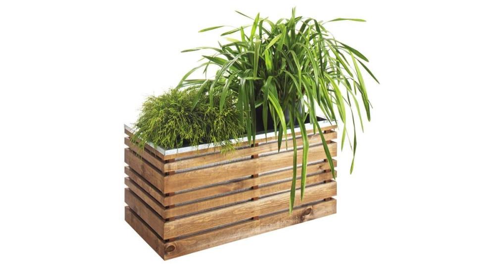 Jardinière en pin 100 x 50 cm, 202 L Lign Z 100