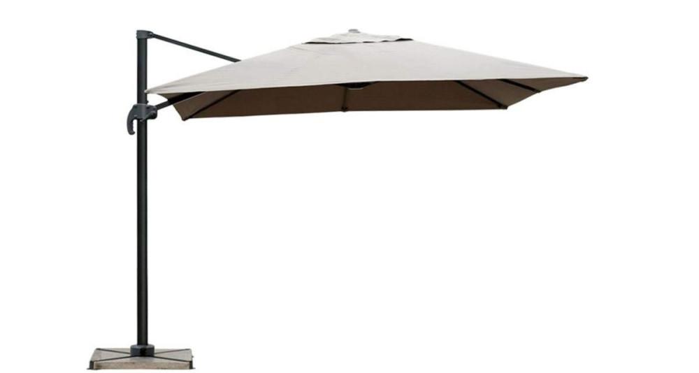 Parasol déporté taupe 2,5 x 2,5 m Orense