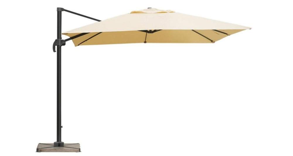 Parasol déporté inclinable sable 2,5 x 2,5 m Orense