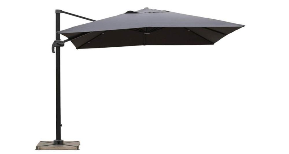 Parasol déporté gris 2,5 x 2,5 m Orense