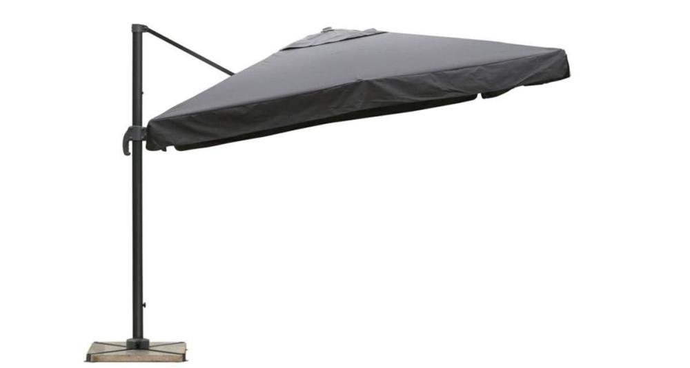 Parasol déporté 3 x 3 m gris Marietas