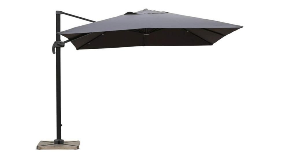 Parasol déporté gris foncé 3 x 3 m Bermudes