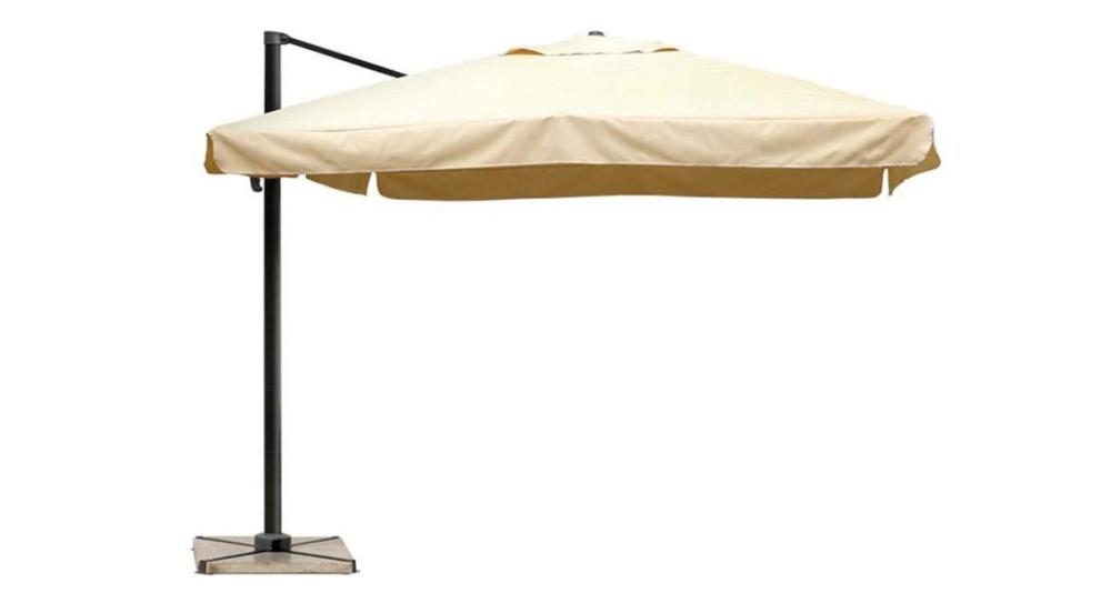 Parasol déporté 3 x 3 m sable Marietas