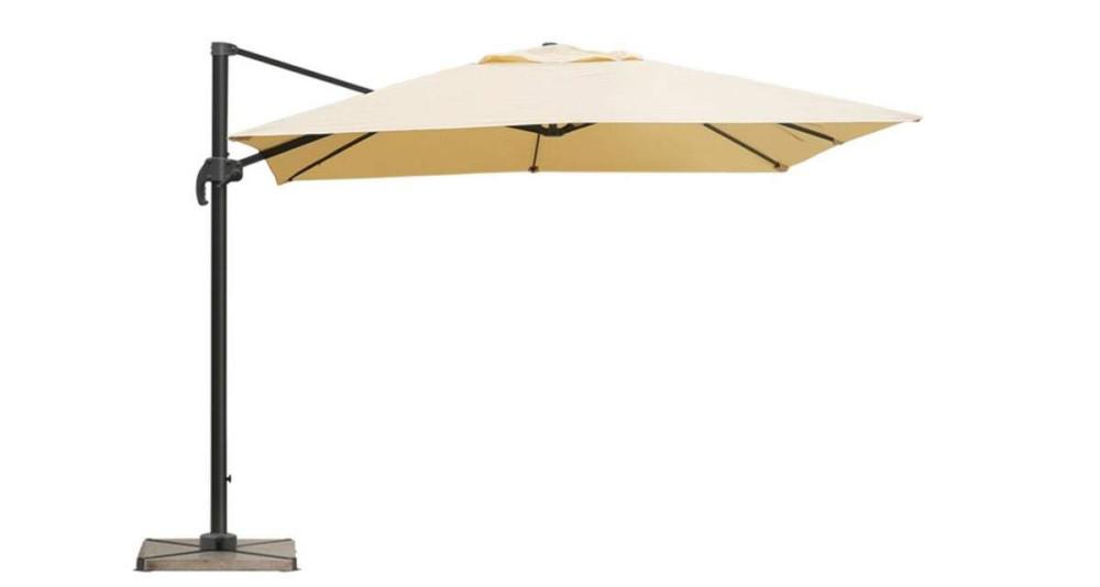 Parasol déporté 3 x 3 m beige/sable Bermudes