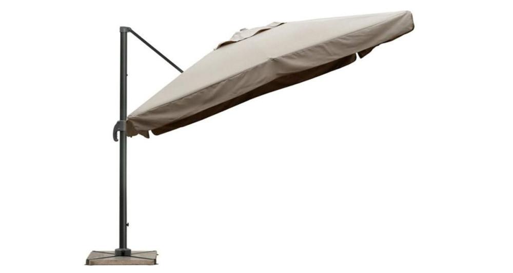 Parasol déporté 3 x 3 m taupe Marietas