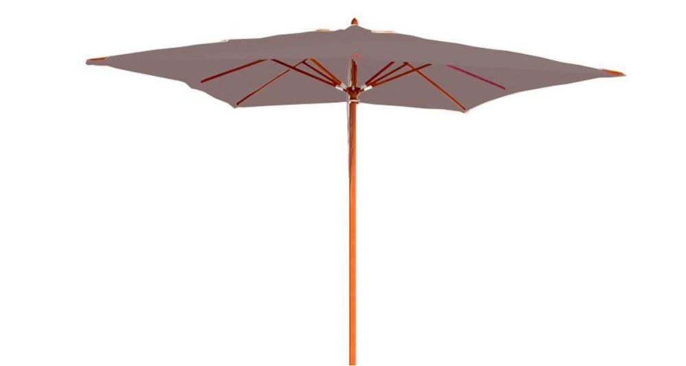 Parasol bois taupe 3 x 3 m Belle-Île