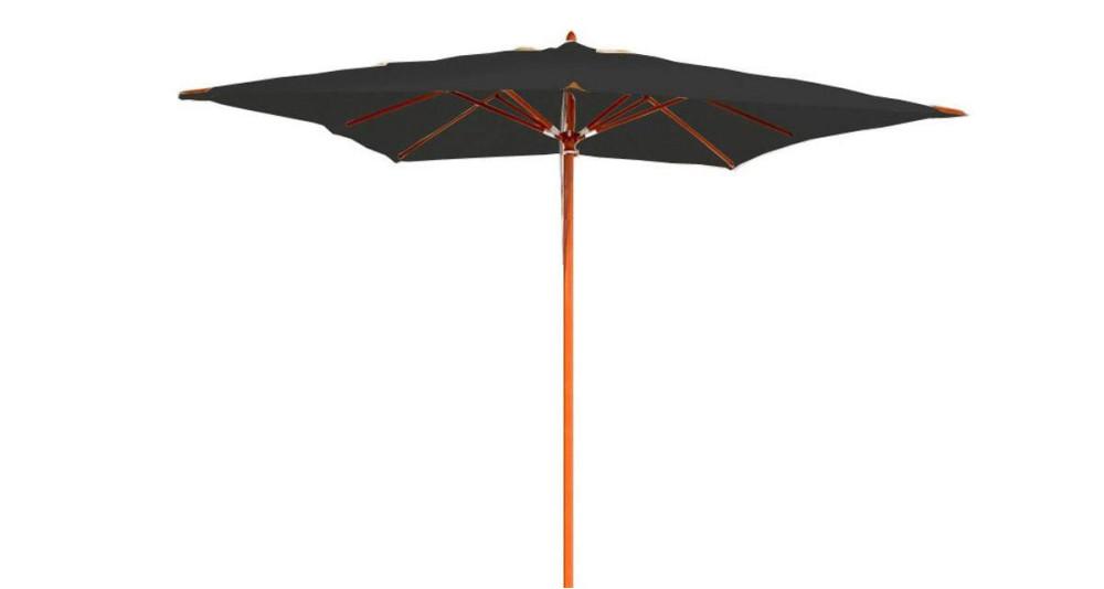Parasol droit toile carrée noire 3 x 3 m Belle-Île