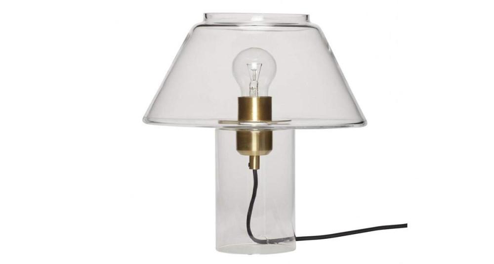 Lampe de table en verre et laiton Lucinda