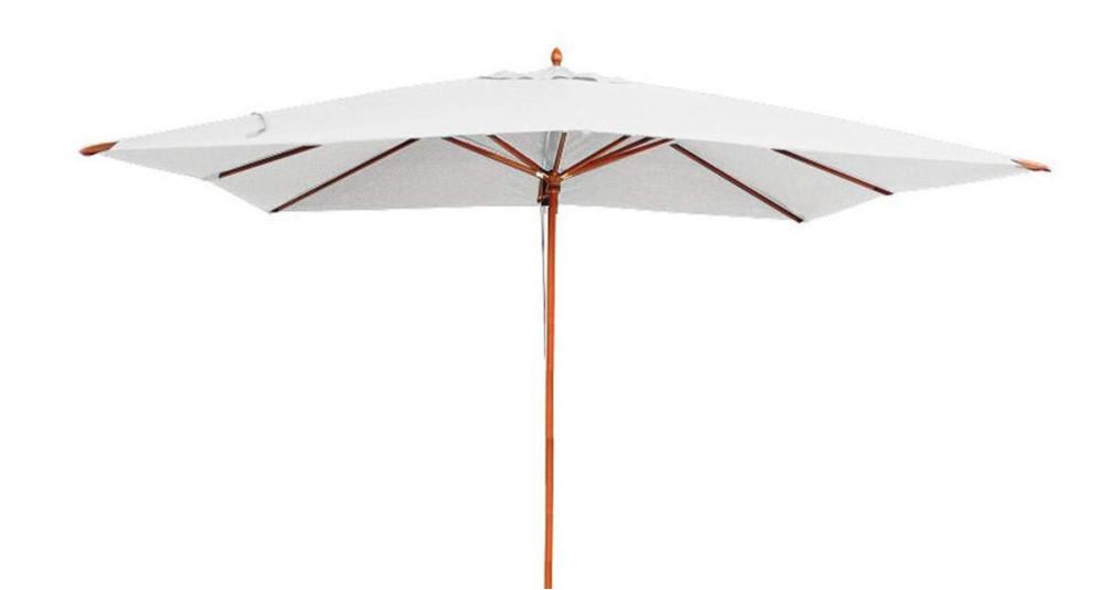 Parasol bois 4 x 3 m écru Phuket