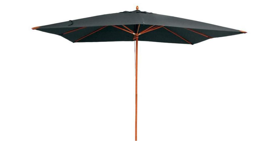 Parasol en bois 4 x 3 m taupe Phuket