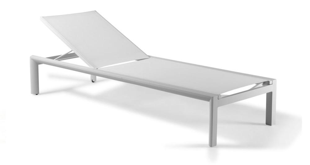 Bain de soleil moderne métal, textilène Procida