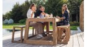 Table XL haut de gamme en teck recyclé Loch Lomond