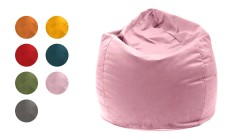Pouf poire en velours William Velvet