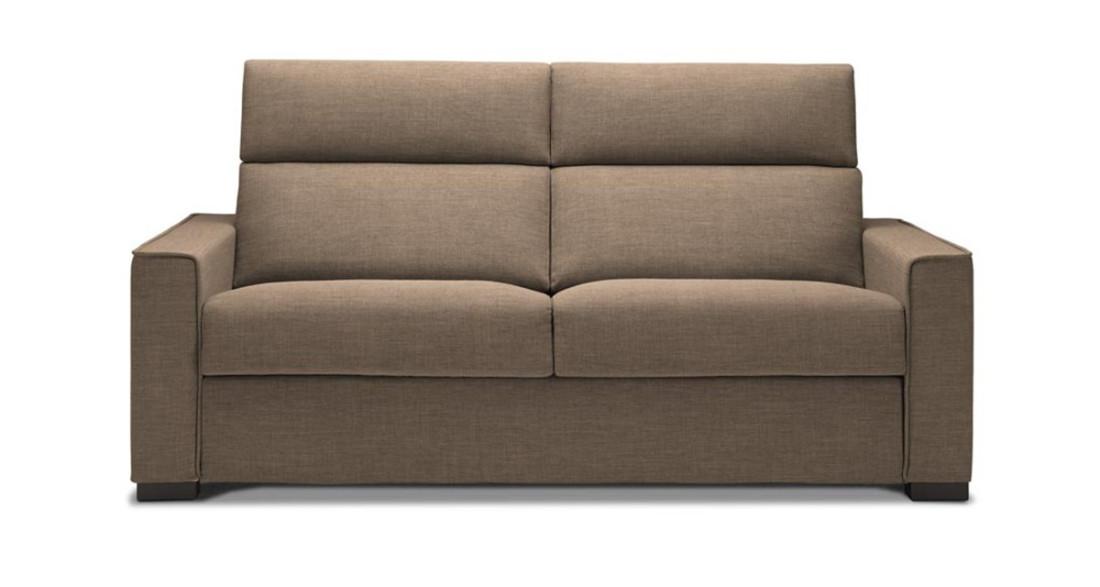 canap fixe ou lit couchage quotidien dossier haut adele. Black Bedroom Furniture Sets. Home Design Ideas