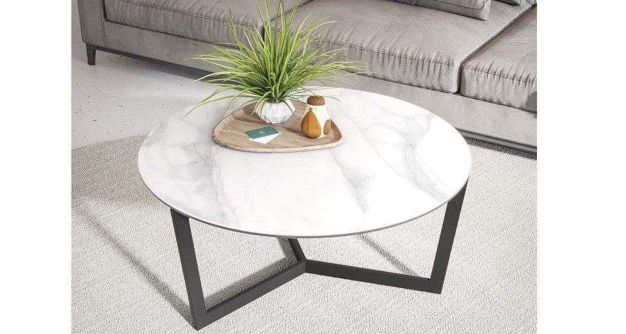 Table basse diamètre 90 cm Clayette