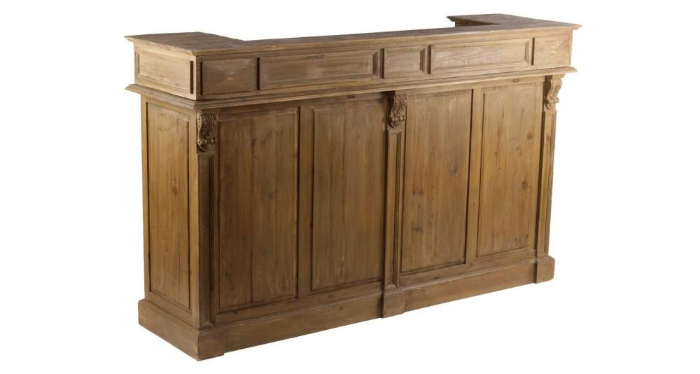 Comptoir de bar en bois recyclé Columbia