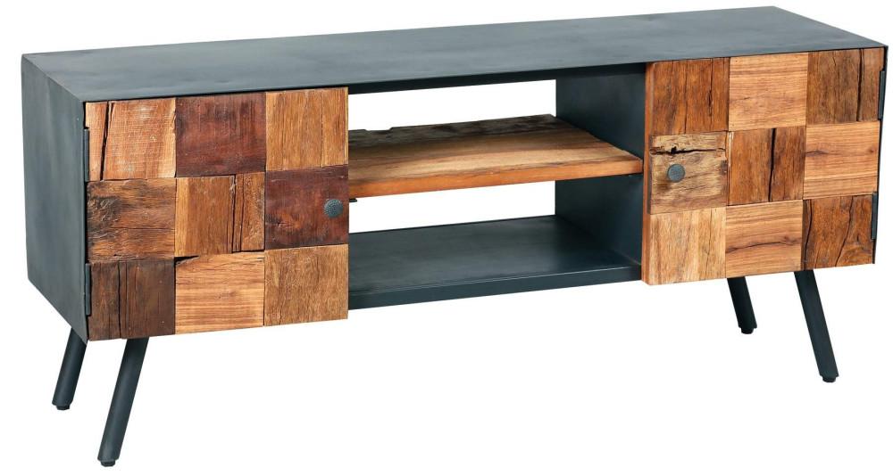 Meuble TV exotique bois et métal Vinted