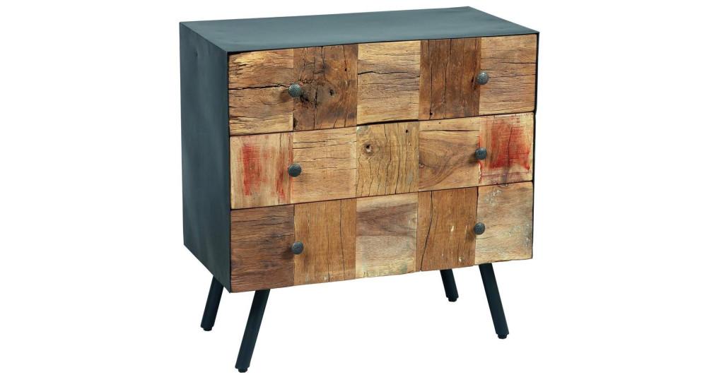 Commode 3 tiroirs en bois exotique Vinted