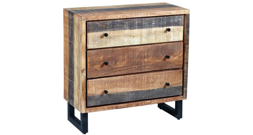 Commode 3 tiroirs en bois massif Exotic