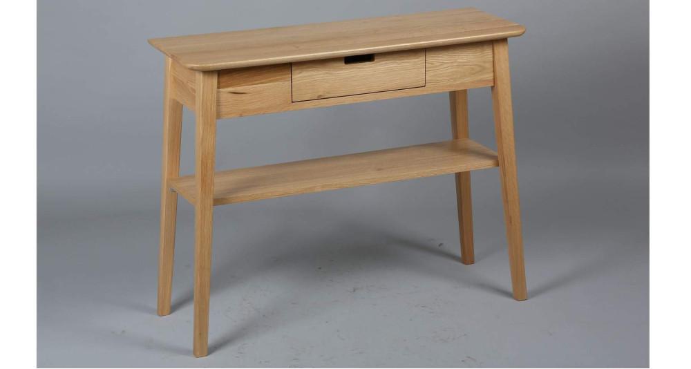 Console 1 tiroir en chêne Danish