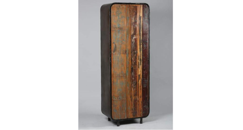 Armoire 1 porte en bois de récup Industrial