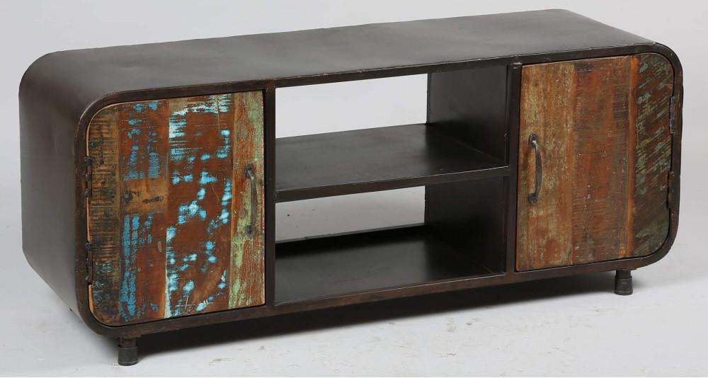 Meuble TV en bois de récupération Industrial