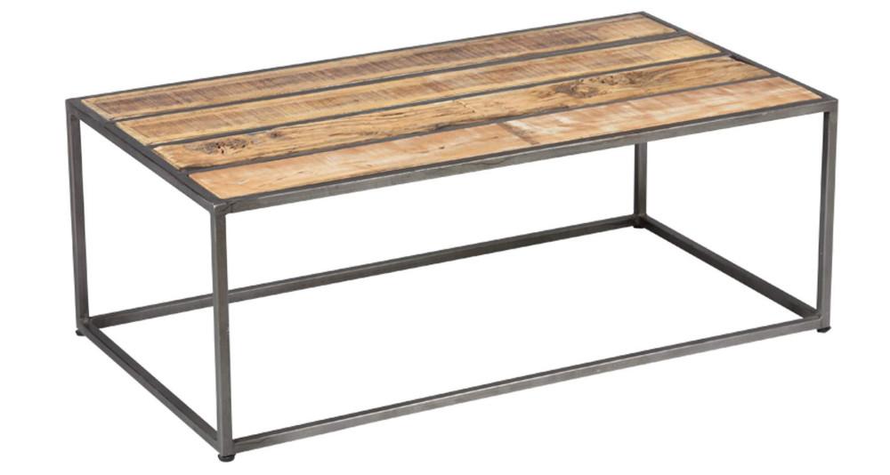 Table basse à lames en bois de récup Jackson