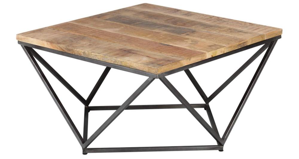 Table basse carrée à pied géométrique Abilene