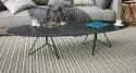 Table basse ovale en céramique Balistique