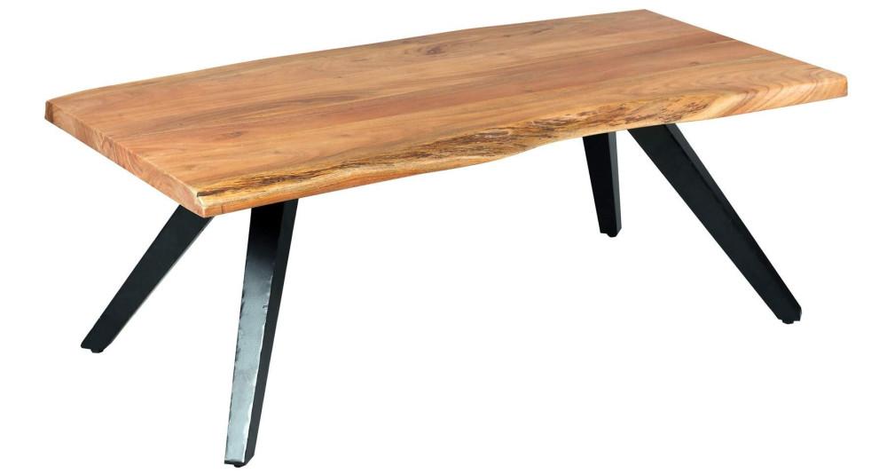 Table basse en bois exotique massif Canopée