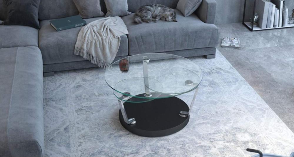 Table basse à plateaux ronds rotatifs Gabrielle