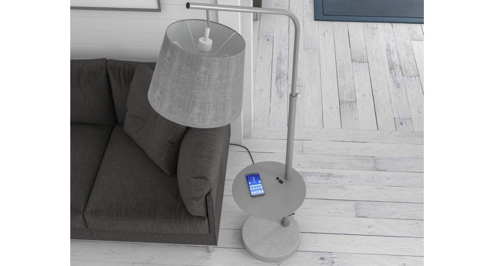 Lampadaire pivotant avec chargeur USB Sirine